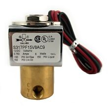 🌟Electric 3-Way Direct Acting Brass Solenoid Valve,  12VDC Normally Closed 1/8