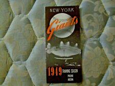 1949 NEW YORK GIANTS MEDIA GUIDE ROSTER Yearbook LEO DUROCHER Program AD