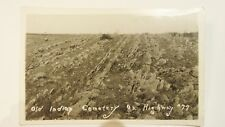 VINTAGE POSTCARD PHOTOGRAPH OF OLD INDIAN CEMETERY ON HIGHWAY 77 ROADSIDEAMERICA