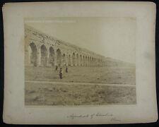 Antique Photo Rome Italy Claudio Aqueduct
