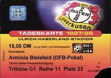 Ticket DFB-Pokal 97/98 Bayer 04 Leverkusen - DSC Armnia Bielefeld