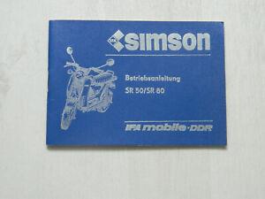 Simson Betriebsanleitung SR 50/SR80