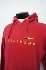 Nike Livestrong red hoodie pullover sz L mens Lance Armstrong -fight cancer#8674