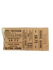 1976 Elton John Concert Ticket Stub - Louder than Concorde Tour