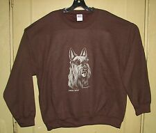 Scottish Terrier  Dark Brown or Black Long Sleeve  Sweat Shirt .NEW! Your Size!