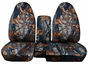 1983-2017 Ford Ranger 60/40 Camouflage Camo Seat Covers Choose color