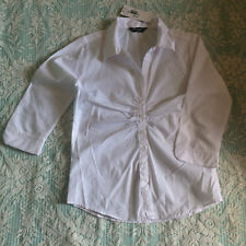 WHITE BLOUSE SIZE 8 - NEW WITH TAGS