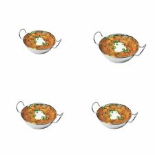 BALTI DISHES STAINLESS STEEL INDIAN KARAHI CURRY SERVING TABLE BOWL 4 X 15cm