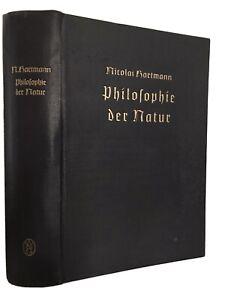 Nicolai Hartmann, Philosophie der Natur 1950 Erstausgabe sehr gut erhalten