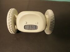 Clocky - Robotic Alarm Clock on Wheels - White [Moving] (Tested / Cleaned)