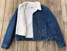 Vintage 80s LEVIS STRAUSS & CO. Sherpa Lined LEVI'S Denim Jean Jacket Men's 50R