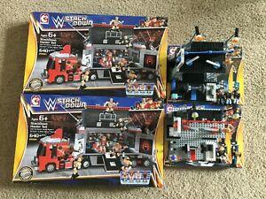 Stackdown WWE C3 lego Hauler Set x2 Train & Rumble The Shield Tactical Training