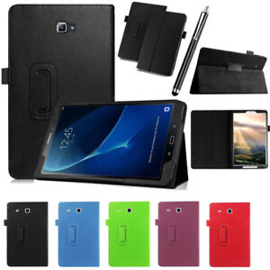 For Samsung Galaxy Tab A6/T580 Tab E/T560 Leather Case Cover Tablets Flip Stand