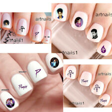 Set Prince Purple Rain Music 160-240 Art Nails Water Decals Sticker Salon Polish