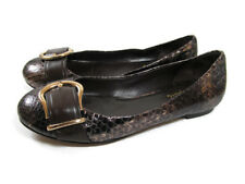 Cole Haan 6.5 Ballet Flats Brown Leather Nike Air Sole Snake Print Buckle