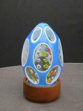 """Large Double Overlay Murano Millefori Paperweight 5"""" Tall 15 Windows 9 Rows"""