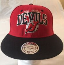NHL New Jersey Devils  Hockey Wool Hat Cap Mitchell & Ness Snapback Vintage 2004