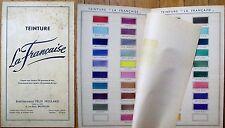 Dye/Paint 1930s Advertising Folder w/Color Samples, 'Teinture La Francaise'