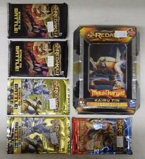 REDAKAI METACHARGED KAIRU TIN + 5 Packs (2 Power, 2 Gold, 1 Metacharged) D -NIP