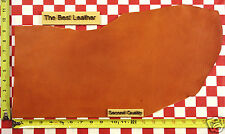 """AUTHENTIC HORWEEN BOLD ORANGE ESSEX 4/5 oz LEATHER HIDE 20""""x8"""" 2ND QUALITY"""