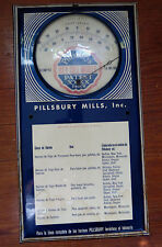 OLD PILLSBURY FLOUR MILLS ADVERTISING THERMOMETER IN SPANISH