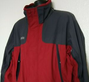 Vintage Columbia Men's L Ski Jacket Double Whammy Heavy Mesh Lined Red Gray