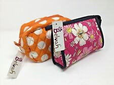 Belvah Quilted Cosmetic Bags~Lot Of 2~NWT~Zippered~Floral~Polka Dots~New!