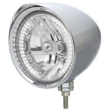 """UNITED PACIFIC """"CHOPPER"""" Headlight w/ Razor Visor - 34 White LED H4 Bulb 32528"""