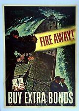 Authentic WWII Poster Fire Away! 5th War Loan In Memory USS Dorado