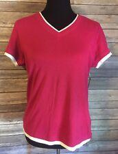 New SJB Active Petite Women's Large Short Sleeve Shirt Top