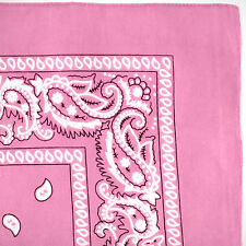 Bandana 100% Cotton Paisley Print Double-Sided Scarf Head Wrap Neck Headband