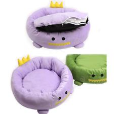 YulDek Dog Cats, Pets Bed, Soft Woolly Fleece and Warm Oval Shaped Basket Nest