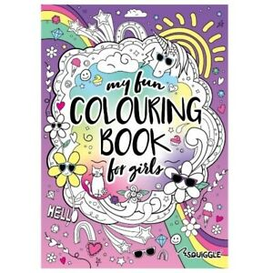 Squiggle My Fun Colouring Book For Girls Children Kids Home and travel Fun Book