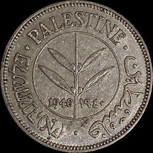 PALESTINE. 50 Mils, 1940, Silver