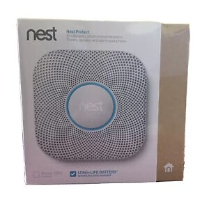 Nest Protect S3000BWES - Wired Carbon Monoxide Smoke Detector (New, Sealed Box)