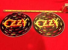 Lot of x2 Vintage 1983 Ozzy Osbourne Large Stickers rock & roll metal Nos New og