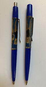 2 vintage Denmark Tip Strip stripper pencil risque nude girlie floaty pen