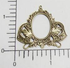 21513         Brass Oxidized Victorian Filigree Ornament Jewelry Finding