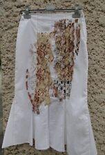 JUPE LONGUE FEMME MARQUE OHDD COM NEUVE TAILLE 36 BLANC VETEMENT CHIC HABILLE