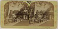 Isola Bella Boschetto Hercules Italia Foto Stereo Vintage Albumina c1870