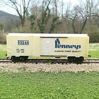 Rare Vintage Tyco-Mantua HO Scale 40 foot Boxcar J C Penneys 1960s White Blue