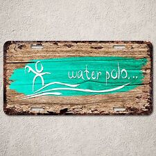 LP0264 Waterpolo wood Rust Auto License Plate Home boy Room Wall Door Decor sign