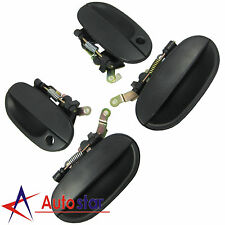 New Black Outside Door Handle Front Rear Left Right For 1995-1999 Hyundai Accent