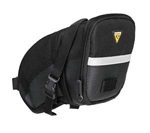 Topeak Aero Wedge Pack Saddle Bag, Strap Fit, Large, Black