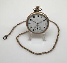 Model 3 Goldplated Pocket Watch & Chain Antique 1899 Elgin 12s 15J Grade 191
