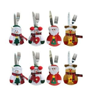 8PCS Christmas Cutlery Holders Suit Silverware Tableware Decor Same Day Dispatch