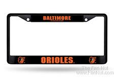 Baltimore Orioles BLACK Metal Chrome License Plate Tag Frame Cover Baseball