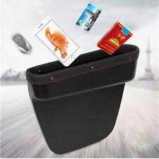 1x New Design PU Leather Car Seat Console Storage Box Pocket Phone Card Catcher