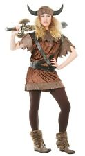 Ladies Nordic Viking Historical Warrior Fancy Dress Costume Outfit UK 14-16-18