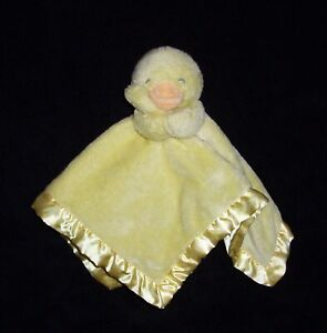 Carters Yellow Duck Baby Blanket Plush Satin Holding Security Lovey Toy L35721